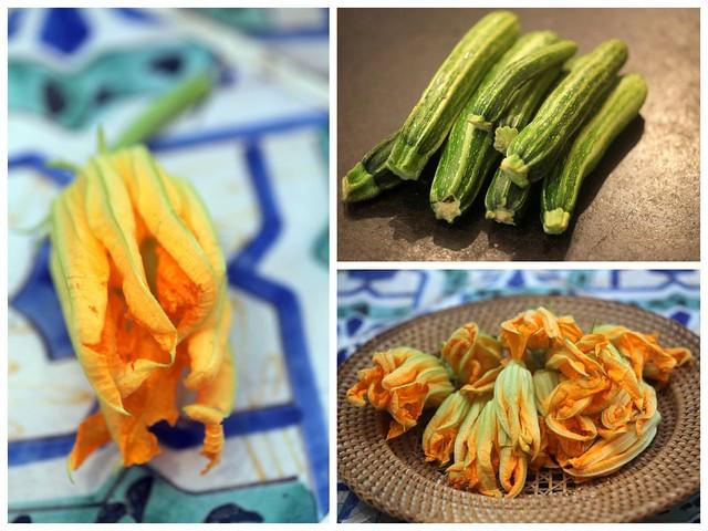 zucchini and fiori di zucca