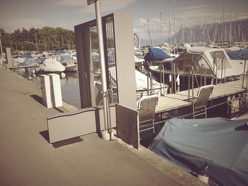 Porte sécurisée Port de Vidy 1