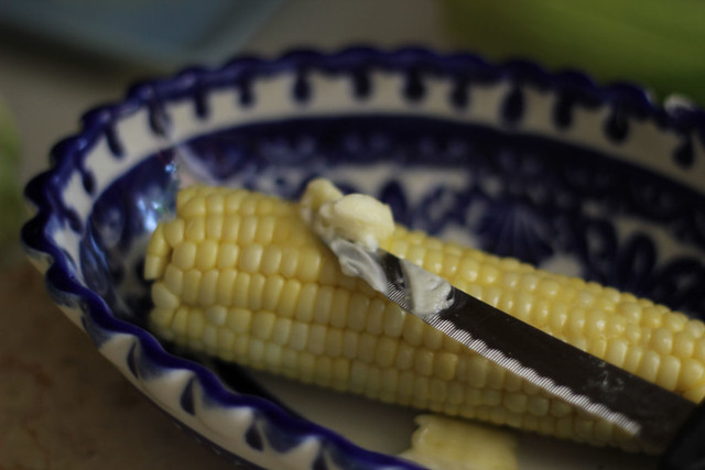 Easy Shucked Corn