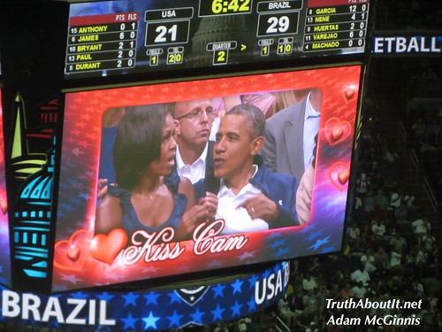 """president obama"" ""michelle obama"" ""kiss cam"" ""verizon center"" ""washington dc"" ""truth about it"" ""adam mcginnis"" ""team usa"" ""brazil"" ""basketball"""