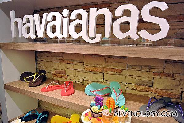 Samples of customised Havaianas flip-flops