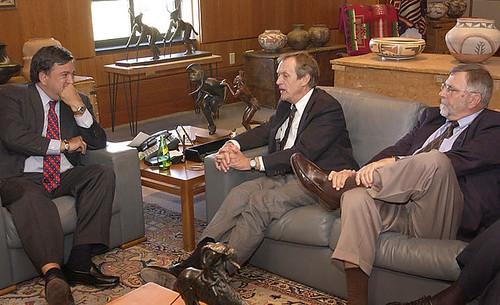Bill Richardson with UC President Bob Dynes and Bob Kuckuck