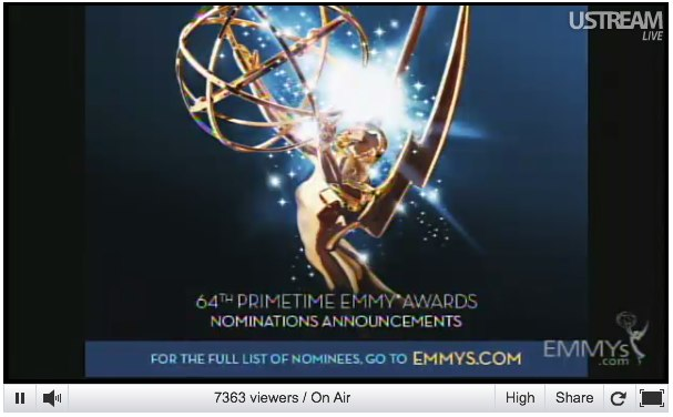 Emmy nominations 2012: Watch it live - latimes.com