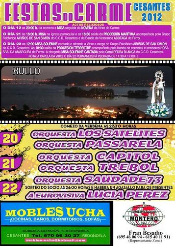 Redondela 2012 - Festas patronais de Cesantes - cartel