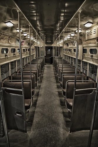 Chicago Transit Authority 48 Interior Multiple Unit Elevated Railway car