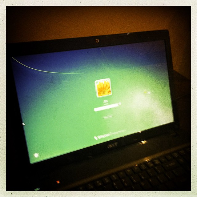 The Windows 7 login screen. Day 199/366.