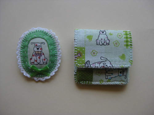 Green Brooch & Coin Pouch by ONE by one