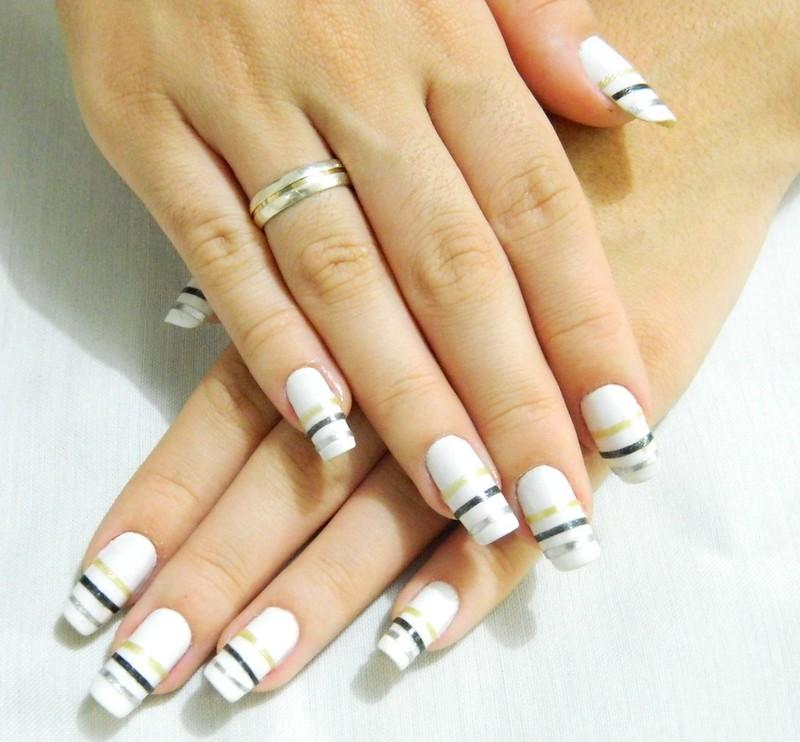 juliana leite nail tutorial unha decorada passoa passo adesivo 065