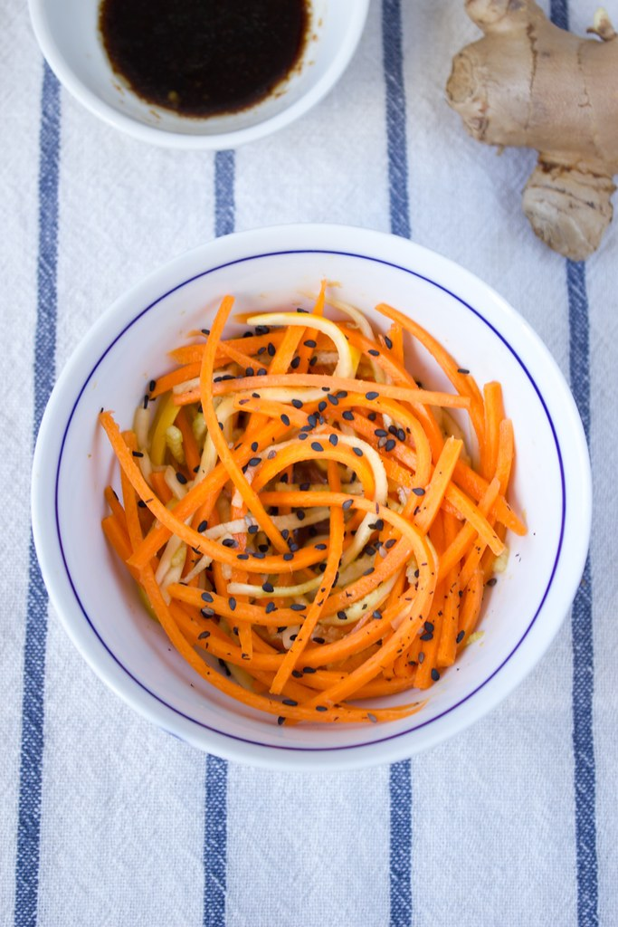 Carrot and Zucchini Asian Salad