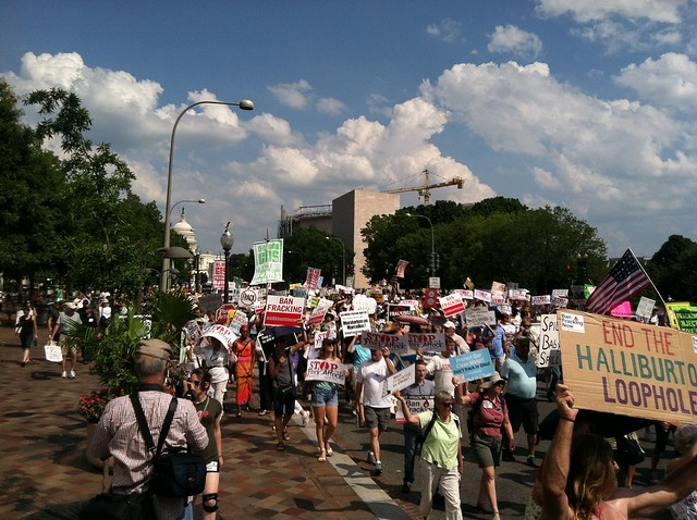 Fracking march in DC 7-28-2012