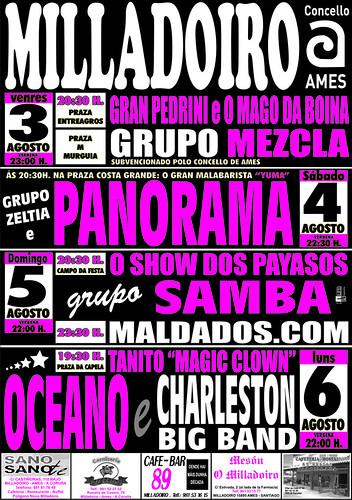 Ames 2012 - Festas da Madalena no Milladoiro - cartel