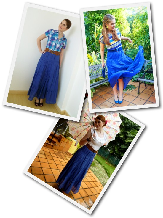 Blue maxi skirt Remix