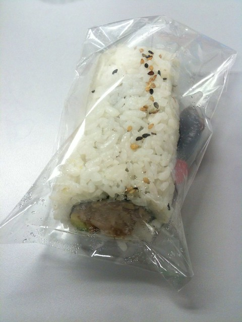 Teriyaki Chicken & Avocado Sushi Roll ($2.95)