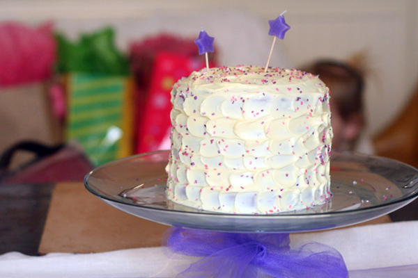 Purple Princess birthday cake