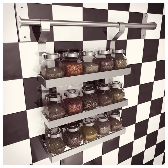 Ikea grundtal spice shelf with rajtan spice jars explore for Ikea grundtal spice rack