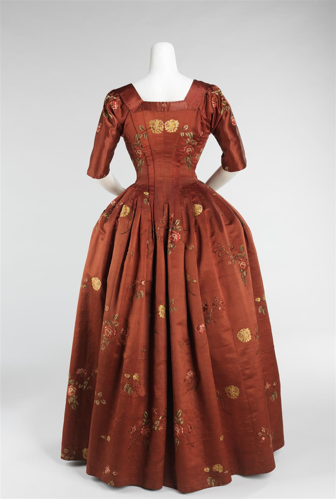 1750. Robe à l'Anglaise. British. Silk