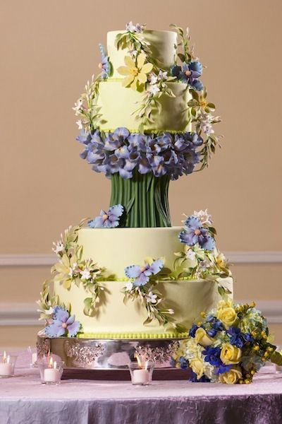 Wedding Cake by North Carolina's Sugarland Bakery