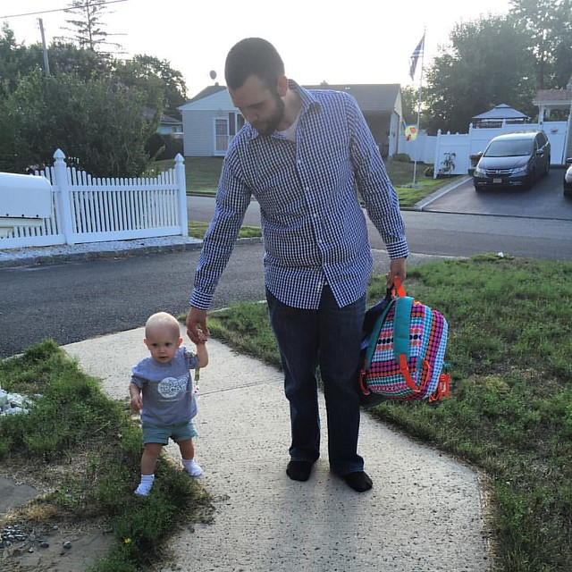 Walking to the house from the car after daycare. 08.26.2016 #Peyton