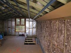 Attic Window and Insulation - Strawbale House Build in Redmond Western Australia