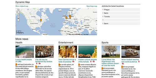 Dynamic maps give locations to your news