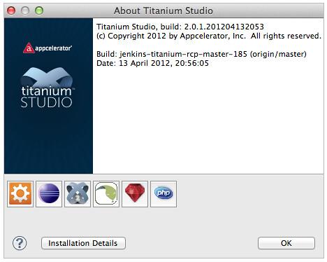 titanium studio 2.0.1