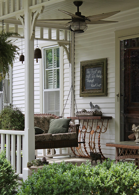 Southern front porch flickr photo sharing for Farmhouse porch swing
