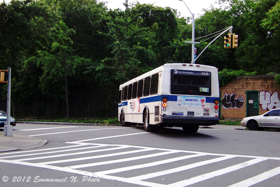 MTA 1996 Orion V 668 (Rear)