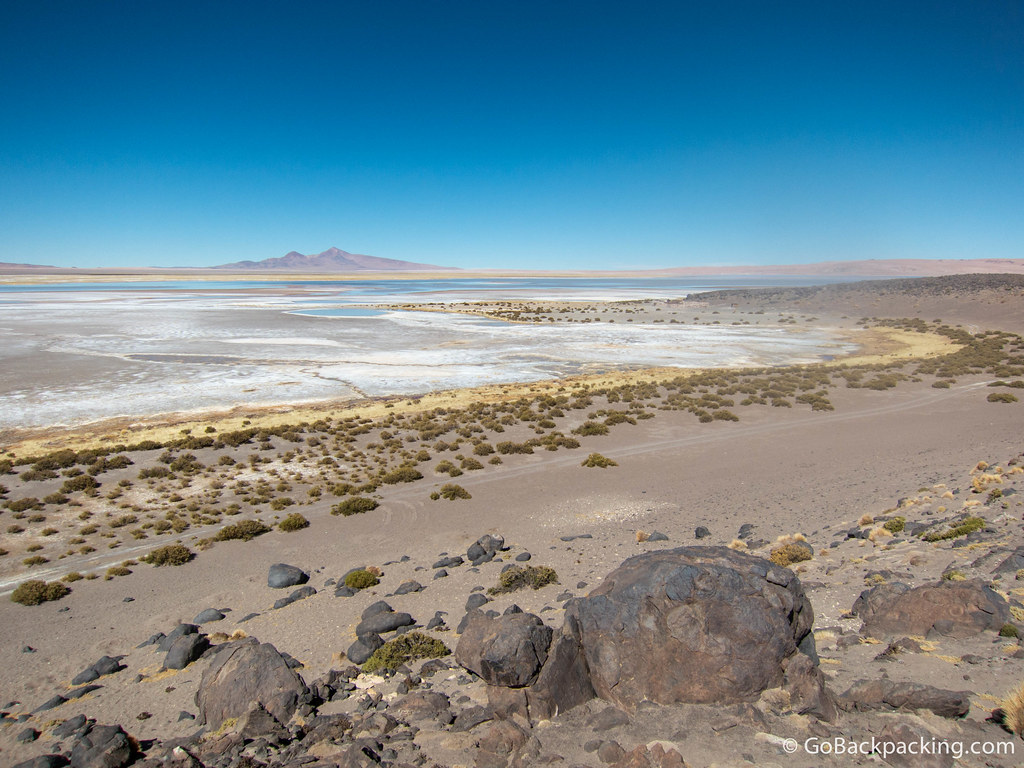 The view of Salar de Tara from where we ate our picnic lunch.