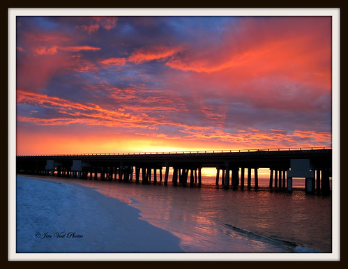 Destin, Florida sunset after today's rain storm...