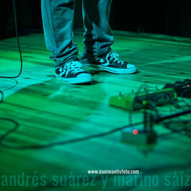 Andrés Suárez con Marino Sáiz