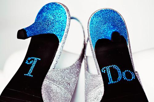 Blue Dipped Heels by IceAngel2011
