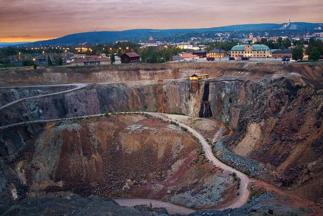 Falun mine and city