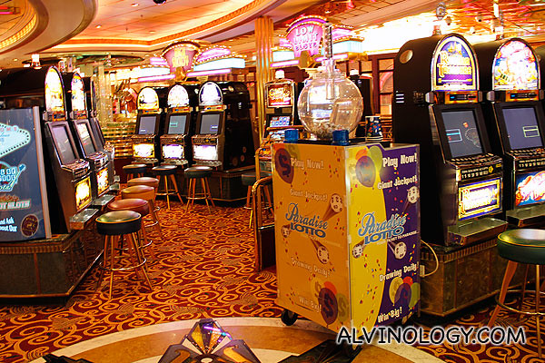 Slot machines in the casino