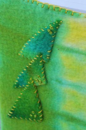 hand rolled felt notebbok cover