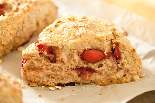 Strawberry Oatmeal Scones