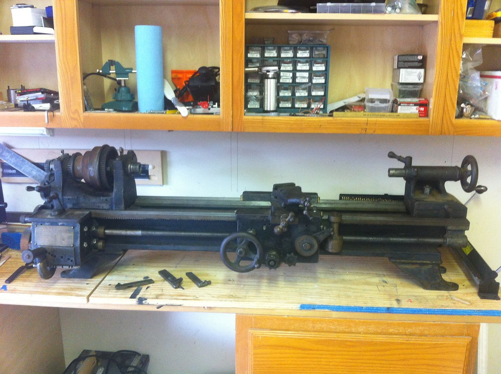 Before Photo of Lathe