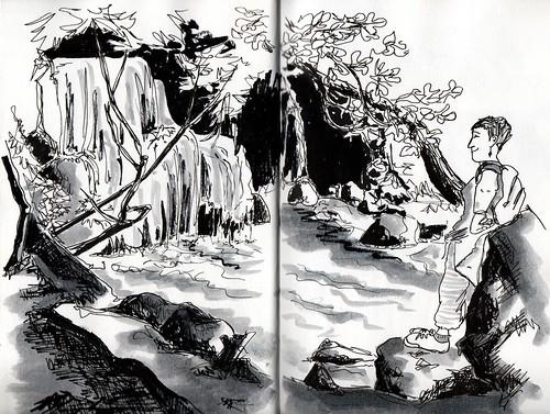 Inma en las Cascadas del Huesna