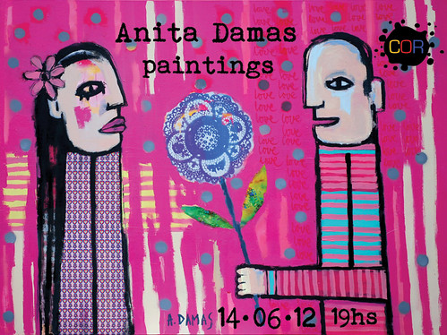 Invitation to my exhibition - COR Galeria - 14/06/12 by good mood factory / Anita Damas
