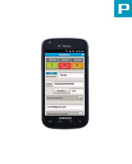 Samsung Galaxy S Blaze 4G Credit Card Processing App