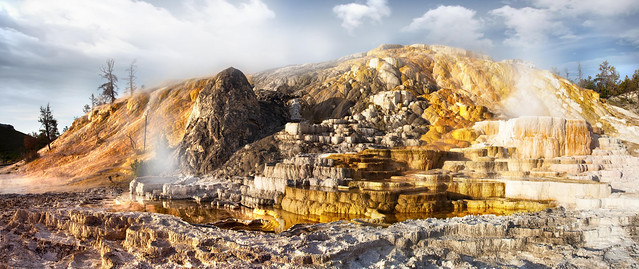 'Golden Mound', United States, Wyoming, Yellowstone National Park, Mammoth Springs
