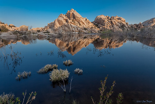 Morning Breaks on Barker Dam - Joshua Tree National Park