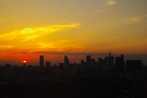 本日の夕陽@六本木ヒルズ