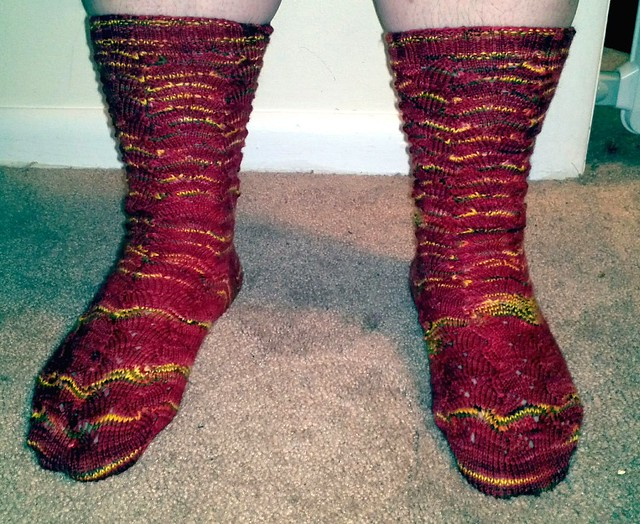Lady Mary Rivulets Socks - Front View