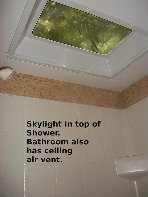 rv shower skylight