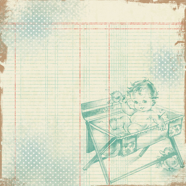 Free Vintage Digital Scrapbooking Digital Paper Boy by FPTFY
