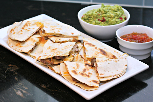 beef tenderloin quesadillas