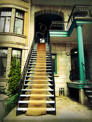 Montreal's unique outdoor stairways