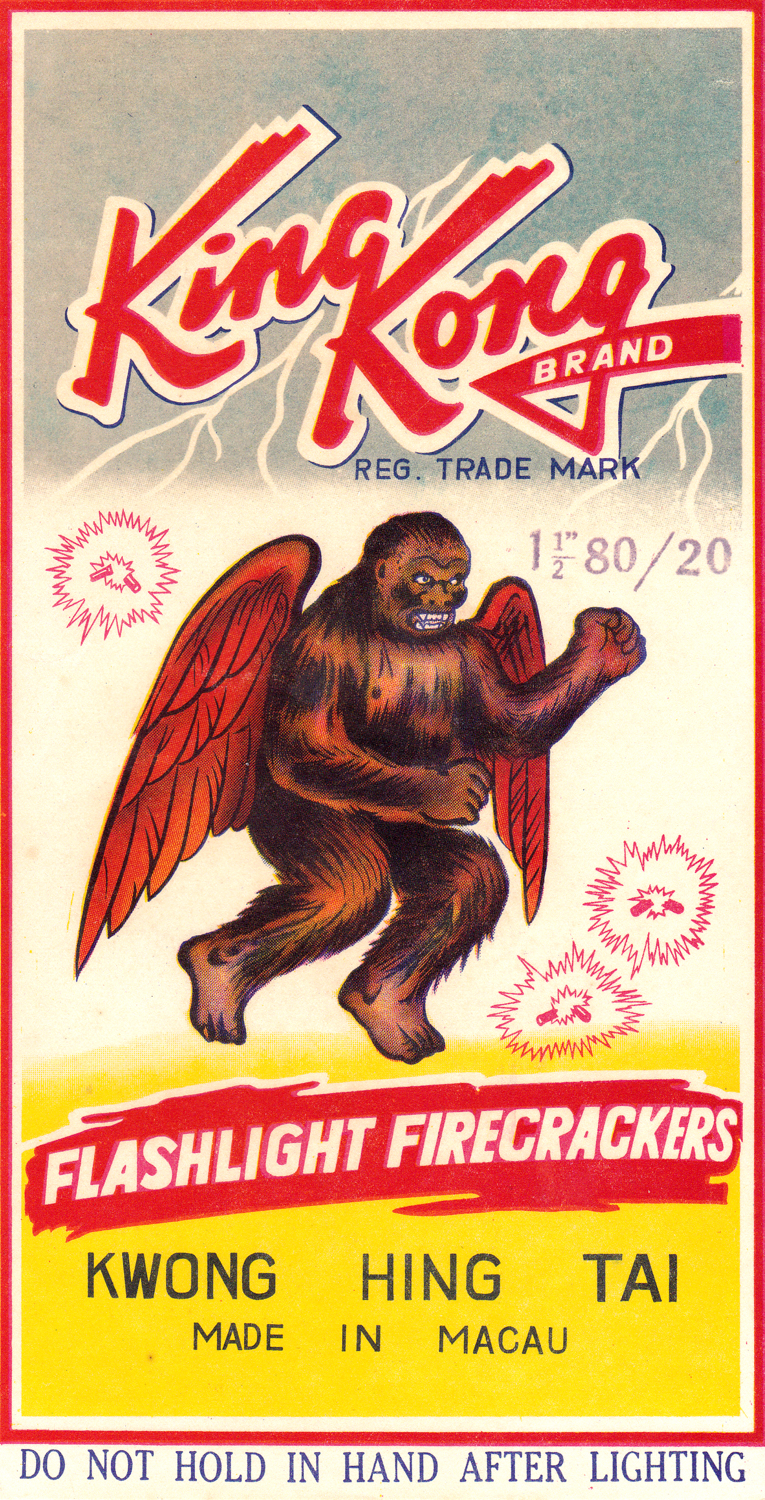King Kong - Firecracker Brick Label