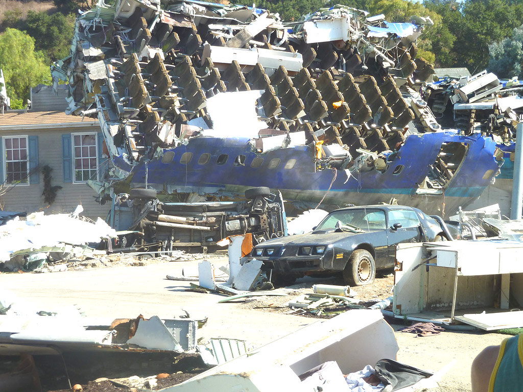 Universal studio tour фильм- катастрофа самолета
