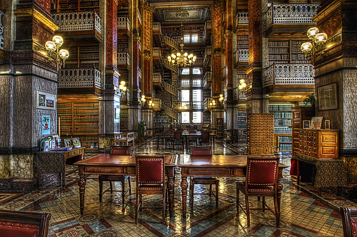 Des Moines Iowa State Capitol Library